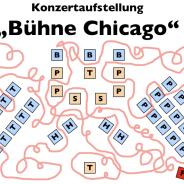 """Konzertaufstellung """"Bühne Chicago"""""""