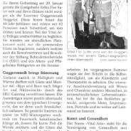 Die Noggeler im Urner Wochenblatt vom 2. Februar 2011