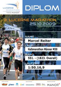 Mäsi am Lucerne Marathon