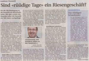 Neue Luzerner Zeitung vom 6. November 2009