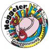 2 Stk. Noggeler-Kleber Rund (Durchmesser ca. 65 mm)