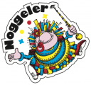 2 Stk. Noggeler-Kleber Umriss (Durchmesser ca. 65 mm)