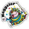 2 Stk. Noggeler-Kleber Umriss (Durchmesser ca. 30 mm)