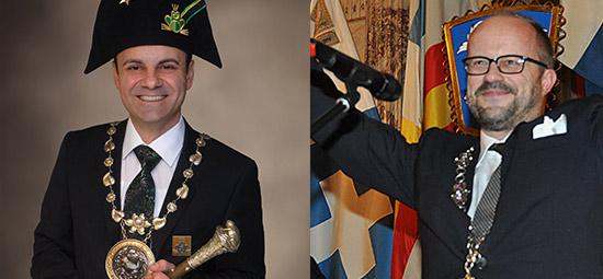 Guilio Capasso (Wey Zunft Luzern) & Andreas Moser (Zunft zu Safran), frosch ... äähhh ... frischgebackene Zunftmeister Luzerns