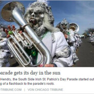 "Die ""South Side Irish Parade"" in der Chicago Tribune"