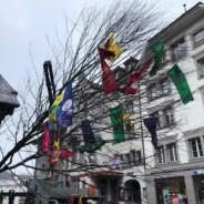 Der 39.5te Guuggerbaum steht! Kinder aus dem Vereinigte-Land machen die Stadt auch ohne Fasnacht fröhlicher!