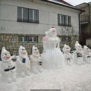 Tipp Nr. 13 für die #HomeFasnacht2021: Die Noggeler aus Schnee gebaut!