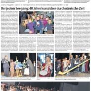 Bericht im Trienger Anzeiger vom 11. Februar 2011
