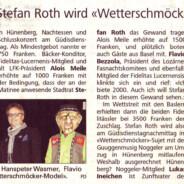 Neue Luzernerzeitung vom 1. Februar 2012 – Es ist offiziell!